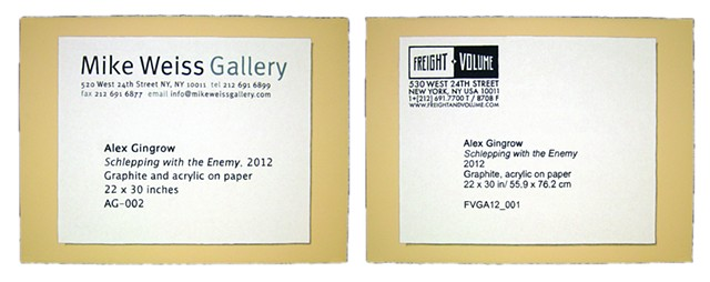 Schlepping with the Enemy Diptych (Freight+Volume and Mike Weiss)