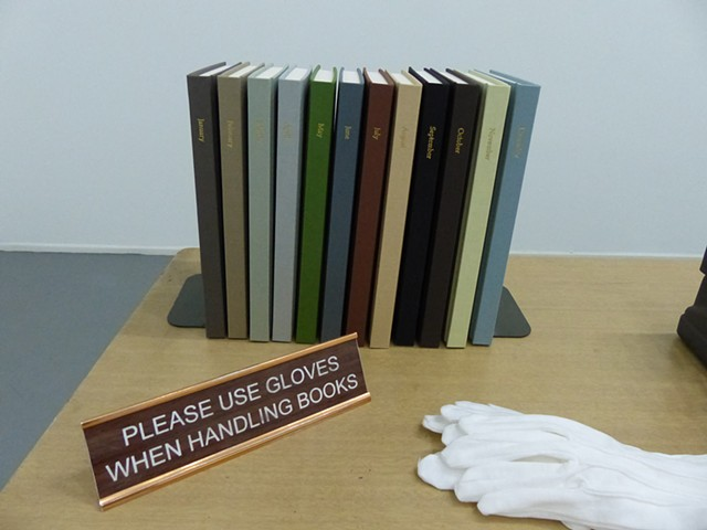 This Disposable Day Desk Calendar book series--Installation view