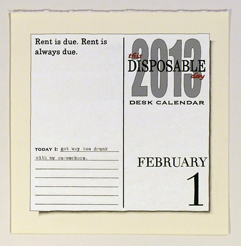 This Disposable Day Desk Calendar (February)