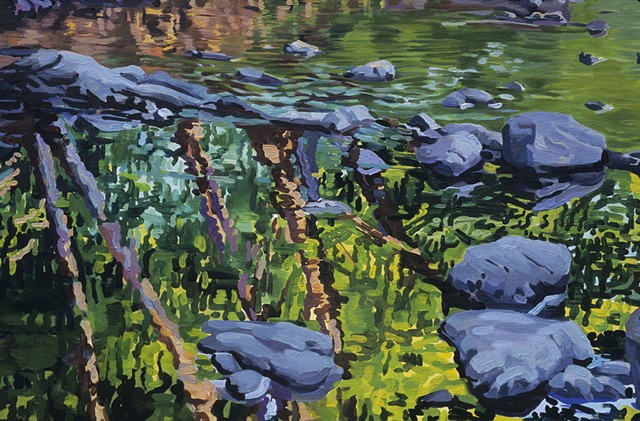 Detail of Summer Branciforte Creek