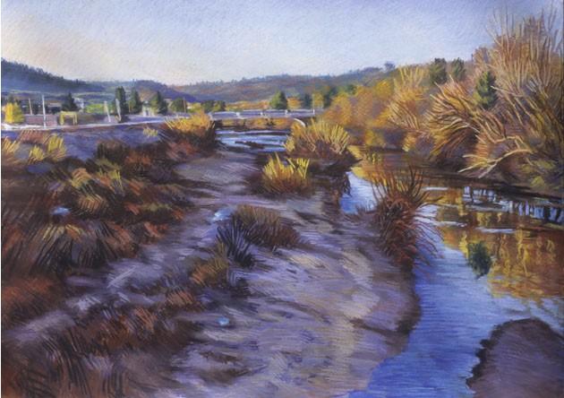 River Bar Winter Upstream
