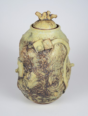 Abnormal Covered Jar w/ Texture #1 (view 2)