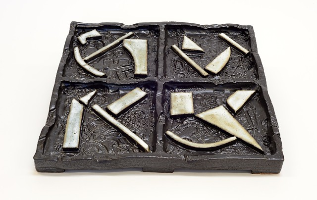 Black & White Abstract Tray (alt. view)