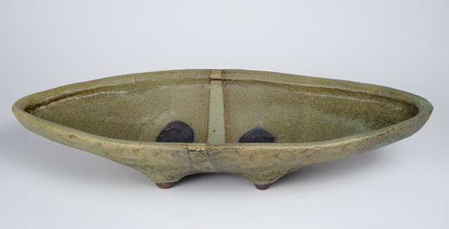 Green Oval Shaped Platter (view 1)
