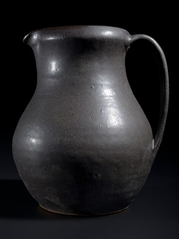 Hand thrown pitcher