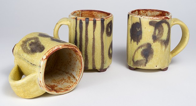 Hand Drawn Cups w/ Handles #2