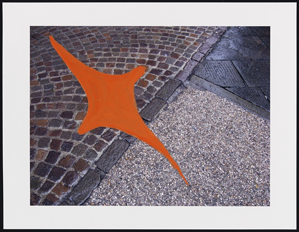 Untitled (pavements with orange shape)