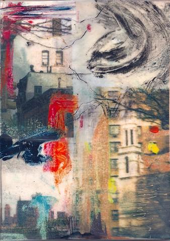 Urban, art, gritty, encaustic, abstract