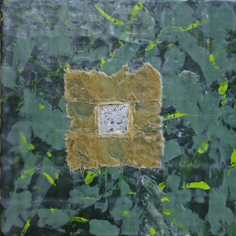 abstract, encaustic, paper, joss transfer