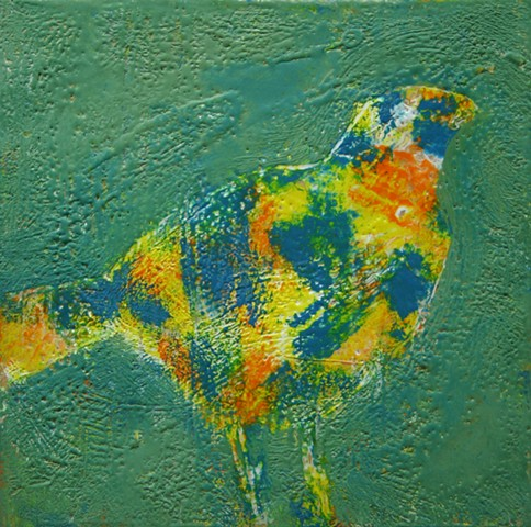 encaustic bird