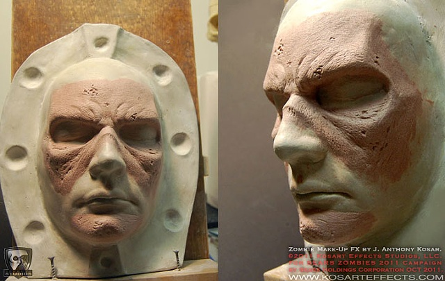 Sears ZOMBIES  Prosthetic Sculpt 2