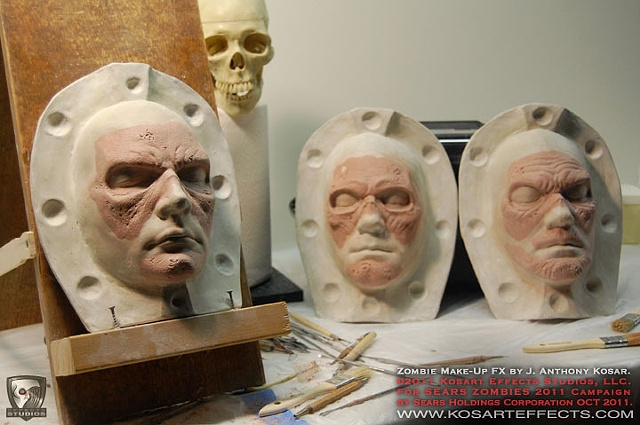 Sears ZOMBIES  Prosthetic Sculpts