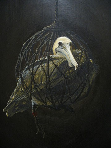 Netted Pelican (detail)