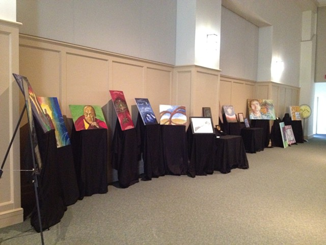"A display of art at ""An Evening of Peace and Understanding"""
