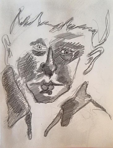 face pencil drawing a cortright devereux artist pennsylvania