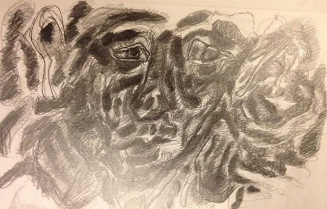 pencil mark pensive drawing graphite paper sketch doodle eyes