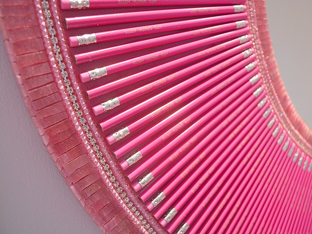 The Pink Pencil Mirror Detail