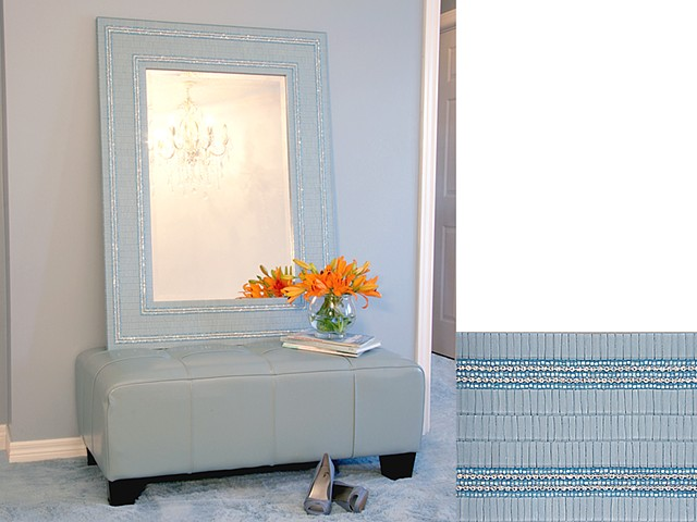 The Aqua Glam Mirror