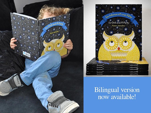 bilingual mosaicked children's picture book