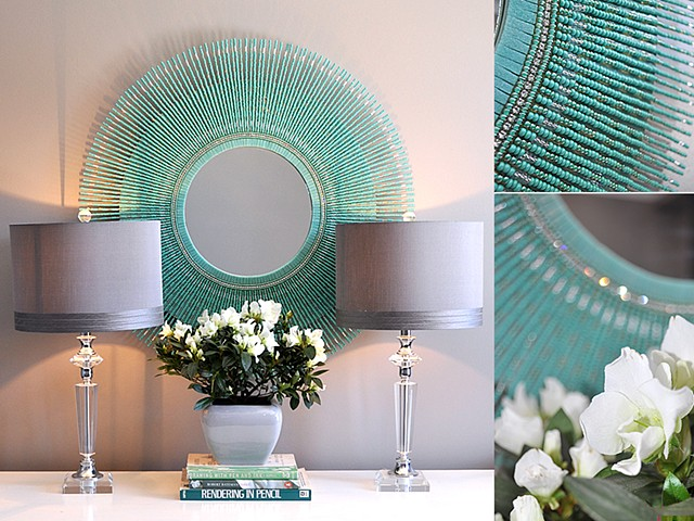 The Turquoise Glass Bead Mirror