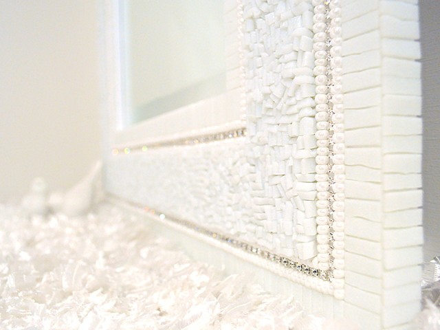 The Tight Shag Mirror, Pearl White Detail