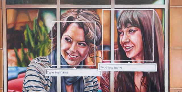 painting, James Lassen, cellphones, text message, facebook, tag, west 7th