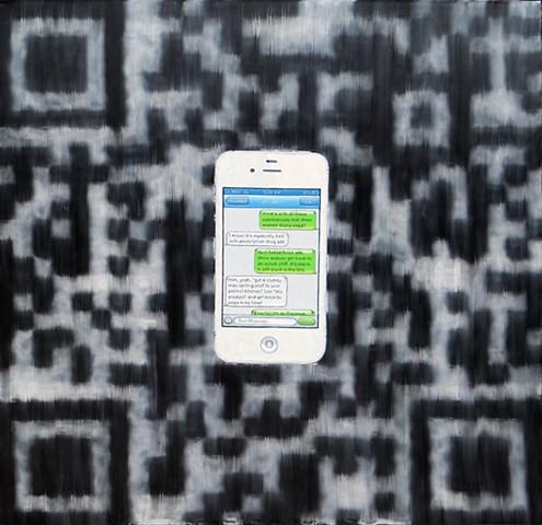 James Lassen, painting, cellphone, iPhone