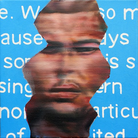 james lassen painting text messages people figures cellphones