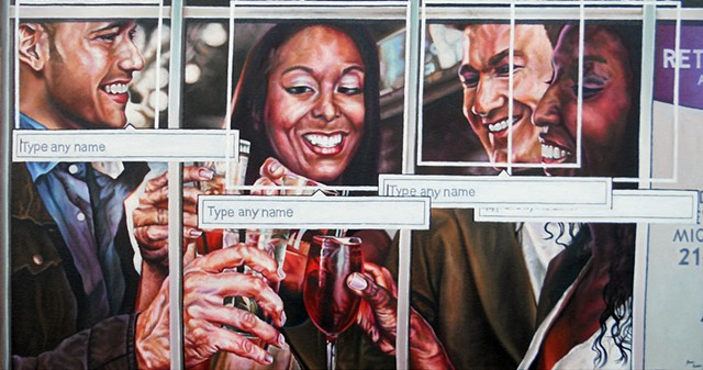 James Lassen, art, painting, phones, text message, iphone, facebook