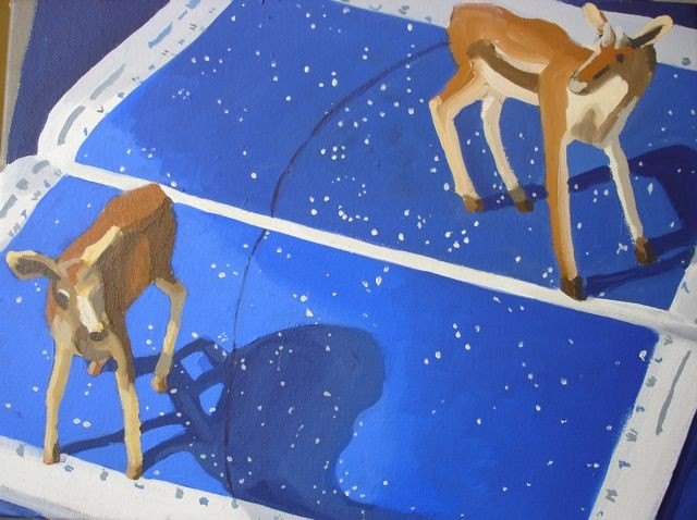 Deer and Night Sky 2