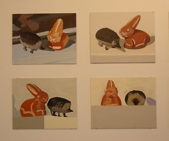 4 panels of  16 from Rabbit and Hedgehog
