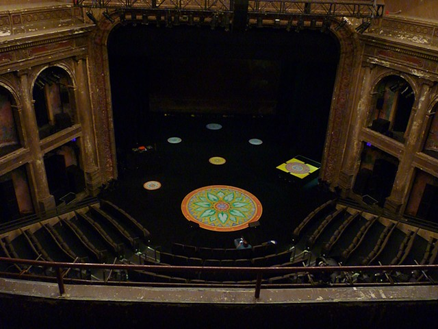 Balcony View of Mandala paintings BAM Poetry 2013