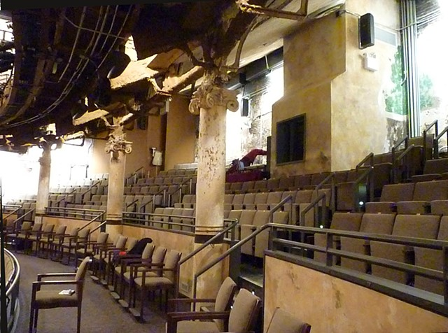 Completed plaster work Harvey Theater