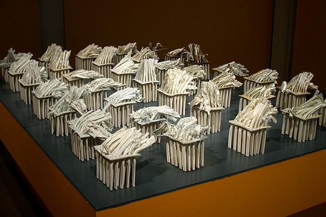 Porcelain installation by Janet Williams