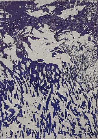 Baroque Landscape (in Purple Ink)