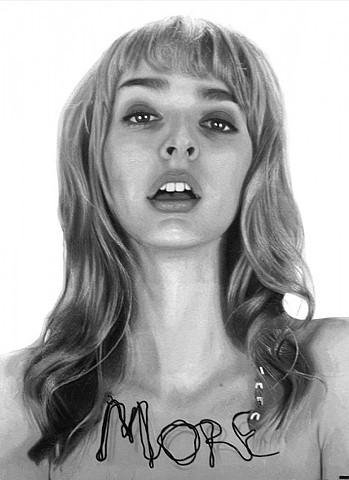 photorealism, hyperrealism, painting, hip, sexy, contemporary art, Nick Flatt, consume