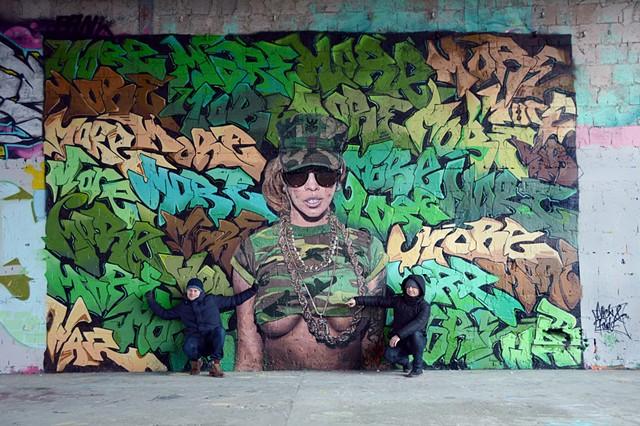 street art, spray paint, graffiti, andy warhol, karen bystedt, cryptik, cryptk movement, cryptik movement, madzilla, josh escuerta
