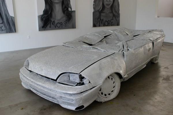 glitter car, sculpture