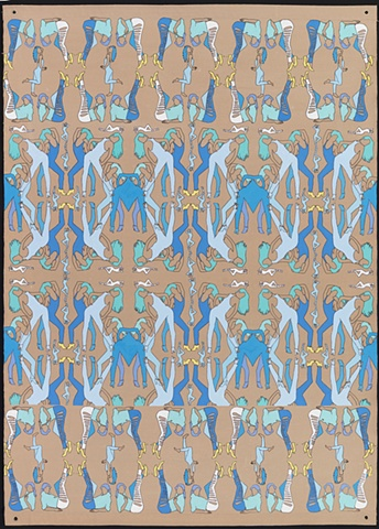 Pattern painting address representation of women in fashion industry.