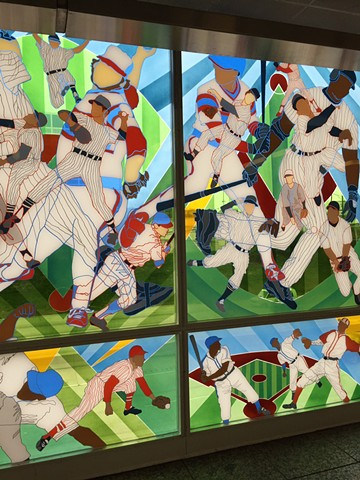 Public Art Installation of Game Changer at 35/White Sox CTA stop