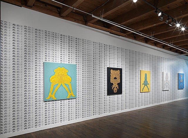 Exhibition installation at Linda warren gallery, 2015