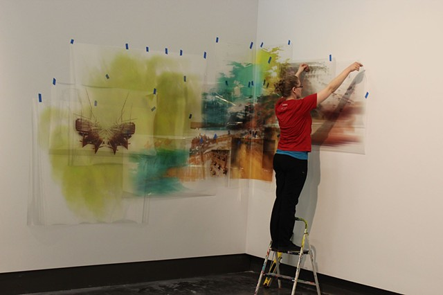 Installing for Passing Through. Photo-based installation at UWAG.