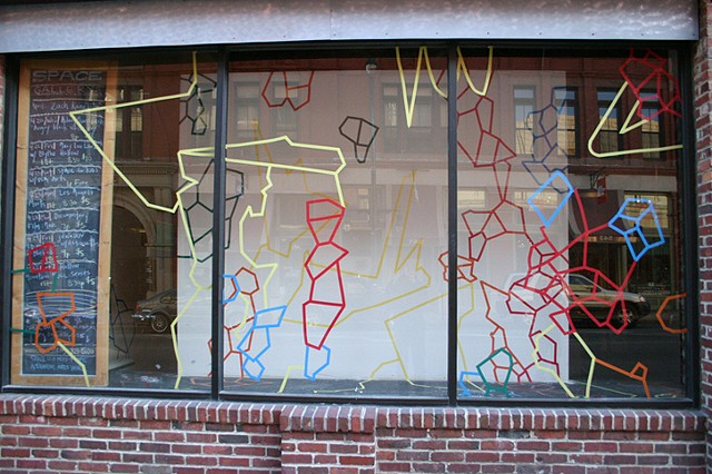 Window drawing, Spaces Portland, ME