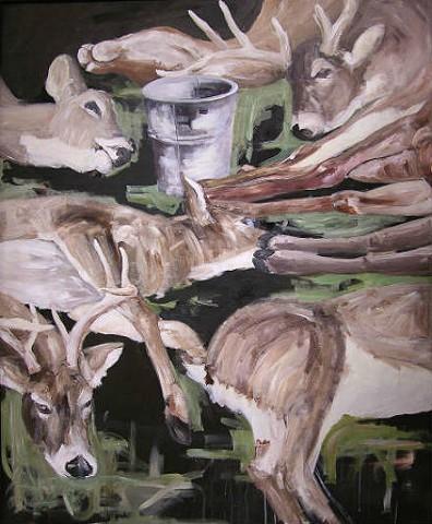 "Untitled #4  ""Venery"" - Senior Painting Thesis"