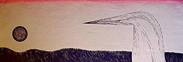 Graphite drawing on manila paper, 2012.