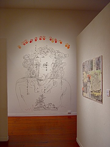 installation view of wall drawing, by Julie McNiel