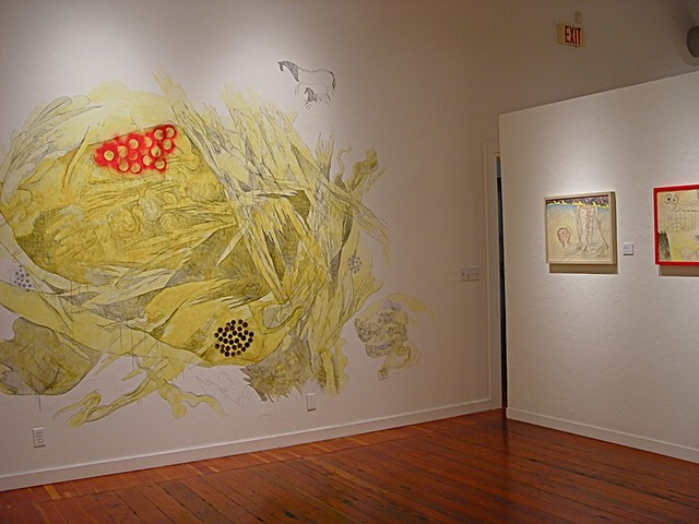 wall drawing by Julie McNiel, installation view