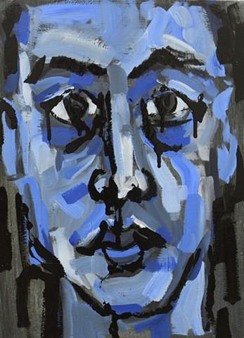 Self-Portraitn in Blue
