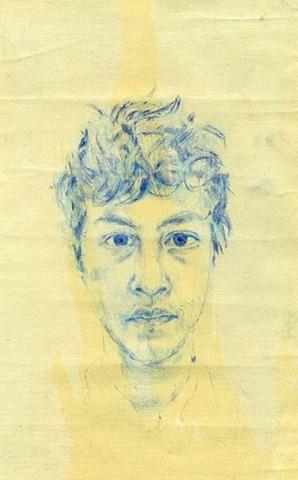 Sel-Portrait in Blue