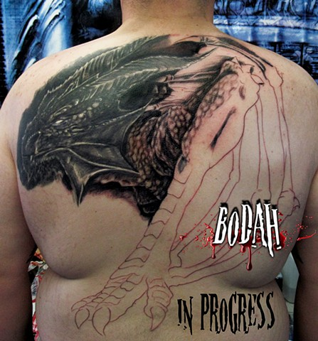 Dragon Back Piece Session2